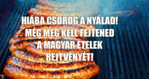 magyar ételek keresztrejtvénye