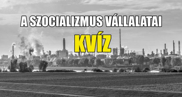 A Kvízmester.comon szeptemberben megjelent a A szocializmus vállalatai KVÍZ – Tudod, hogy melyik hol és mit gyártott?.