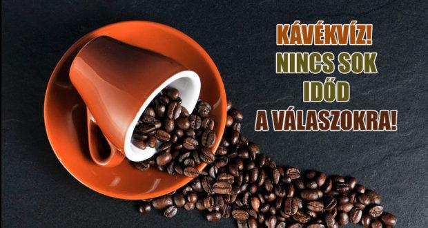 Kávékvíz! Időben kapcsolsz, vagy kávé nélkül nem megy?